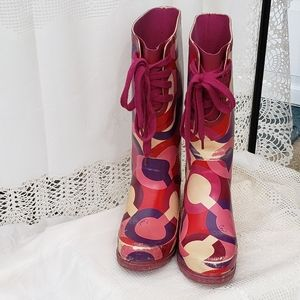 COACH Rain Boots - Pinks